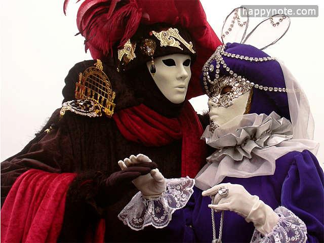 50 images du Carnaval de Venise en 640x480 pixels pour personnaliser le jeu vidéo Partition Clé de Sol et Clé de Fa HN