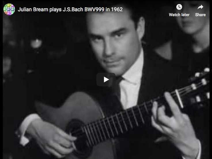 Bach - Prélude en Ut mineur BWV 999 - Bream, Guitare