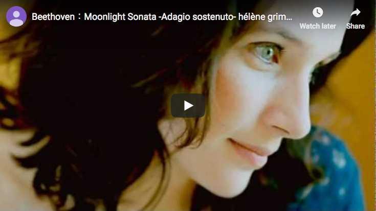 La pianiste Hélène Grimaud joue le premier mouvement de la sonate No. 14 en Ut dièse mineur de Beethoven, dite Clair de Lune