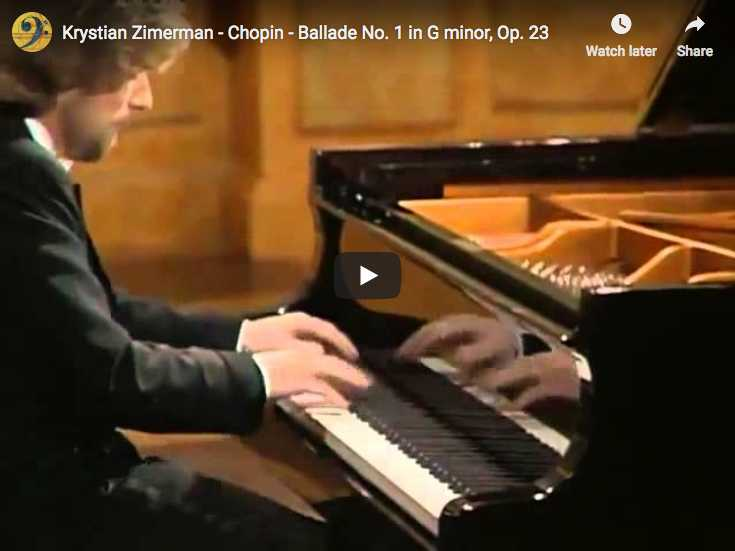 Chopin - Ballade No. 1 en Sol mineur - Zimerman, Piano