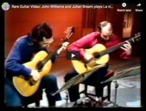 Les guitaristes Julian Bream et John Williams interprètent une transcription pour guitare de la Danse Espagnole de Manuel de Falla, tirée de son Opéra La Vie Brève (La Vida Breve)