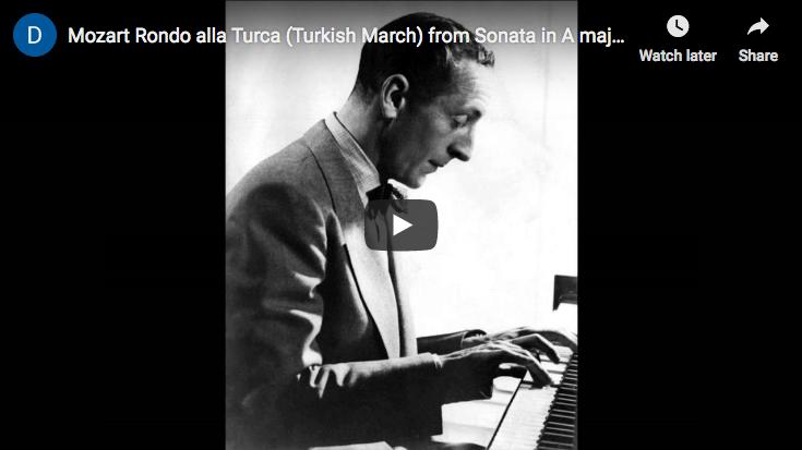 Mozart - La Marche Turque - Horowitz, Piano