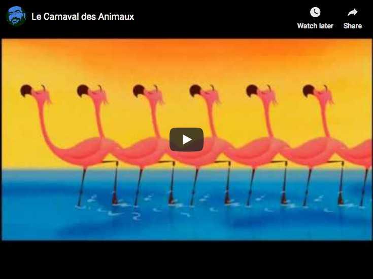 Le final (XiV) du Carnaval des Animaux du compositeur français Camille Saint-Saens représenté dans le dessin animé Fantasia 2000 de Walt Disney