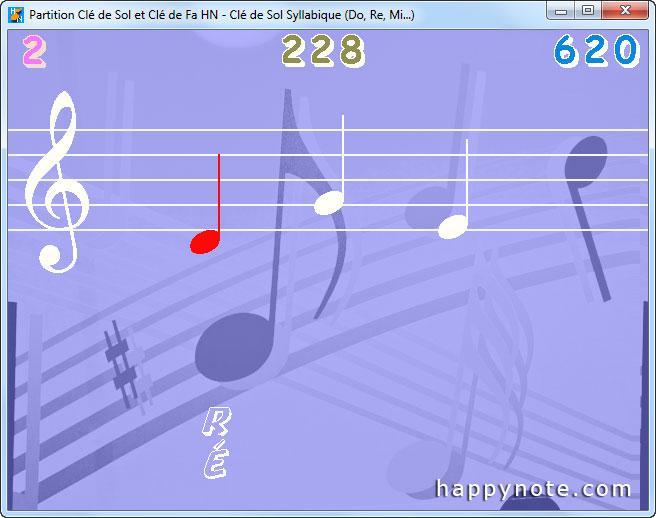 Le jeu vidéo Partition Clé de Sol et Clé de Fa HN pour apprendre à lire une partition indique au joueur qu'il a fait une fausse note.